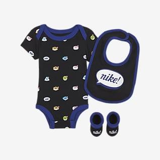 Nike Conjunto de tres piezas para bebé de 6 a 12 meses