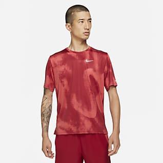 Nike Dri-FIT Miler Wild Run Men's Short-Sleeve Printed Running Top