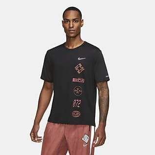 Nike Dri-FIT Miler Wild Run 男款圖樣跑步上衣