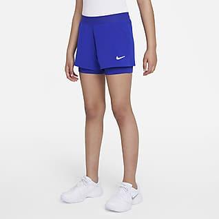 NikeCourt Dri-FIT Victory Genç Çocuk (Kız) Tenis Şortu