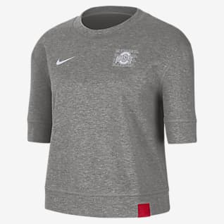 Nike College (Ohio State) Women's Reversible Crop Top