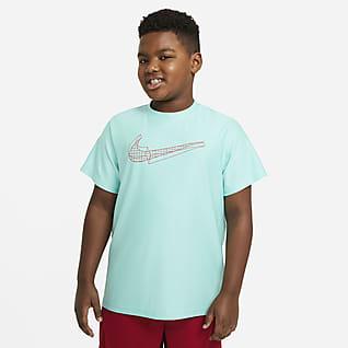 Nike Camiseta de entrenamiento de manga corta con gráfico para niños talla grande (talla extendida)