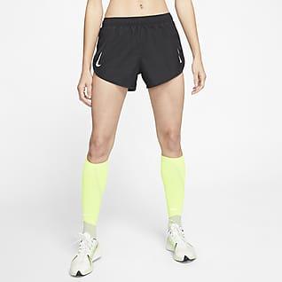 Nike Tempo Hoog uitgesneden hardloopshorts voor dames