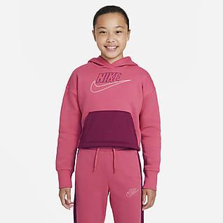 Nike Sportswear Club Fleece Icon Clash Mikina s kapucí pro větší děti (dívky)