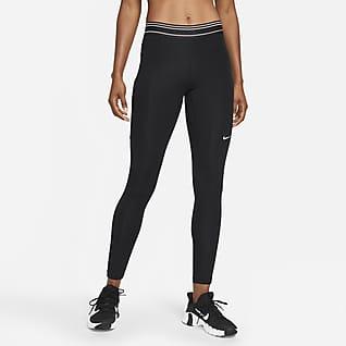 Nike Pro Dri-FIT Leggings de malla de tiro medio con bolsillo para mujer