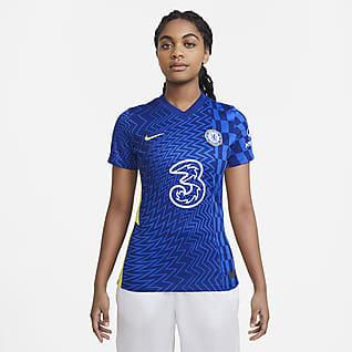Chelsea FC 2021/22 Stadium (hemmaställ) Fotbollströja för kvinnor