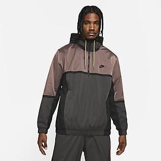 Nike Sportswear Casaco com capuz e fecho até meio para homem