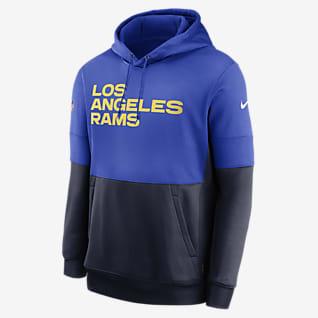 Nike Therma Team Name Lockup (NFL Los Angeles Rams) Men's Pullover Hoodie