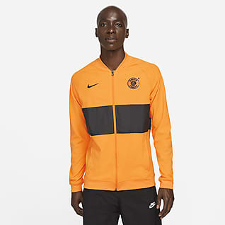Kaizer Chiefs F.C. Hosszú cipzáras, férfi futball-melegítőfelső