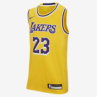 洛杉矶湖人队 Icon Edition Swingman Jersey Nike NBA Jersey 大童(男孩)球衣