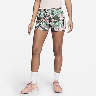 Nike 10K Damen-Laufshorts mit Print