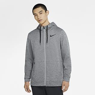 Nike Therma เสื้อเทรนนิ่งมีฮู้ดซิปยาวผู้ชาย