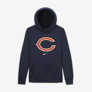 Nike Essential Chicago Bears Logo-Hoodie für ältere Kinder (Jungen)