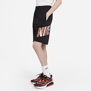 Nike Sportswear Shorts estampados de tejido de punto para niño talla grande
