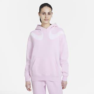 Nike Sportswear Swoosh Sudadera de tejido Fleece oversized para mujer