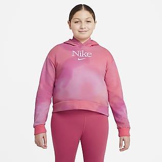 Nike Sportswear Sudadera con capucha sin cierre para niñas talla grande (talla extendida)