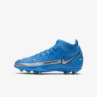 Nike Jr. Phantom GT Club Dynamic Fit MG รองเท้าสตั๊ดฟุตบอลเด็กเล็ก/เด็กโตสำหรับพื้นหลายประเภท