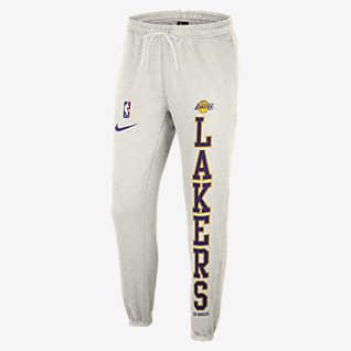 Los Angeles Lakers Courtside Pantalones Nike NBA de tejido Fleece para hombre