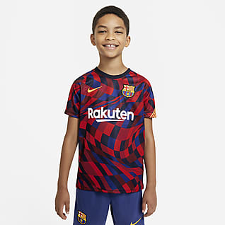 F.C. Barcelona Older Kids' Short-Sleeve Football Top