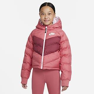 Nike Sportswear Bunda skapucí asyntetickou výplní pro větší děti (dívky)