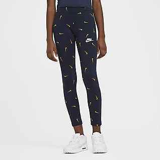 Nike Sportswear Leggings estampados para niña talla grande