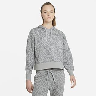 Nike Dri-FIT Get Fit Γυναικείο εμπριμέ φούτερ προπόνησης με κουκούλα