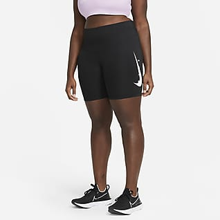 Nike Swoosh Run Legging de running 18 cm pour Femme (grande taille)