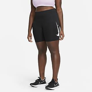 Nike Swoosh Run Mallas de running de 18 cm para mujer talla grande