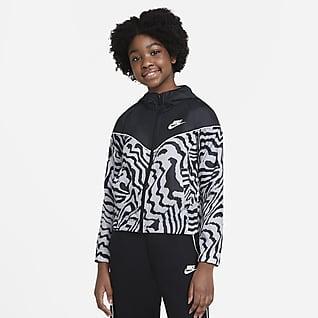 Nike Sportswear Windrunner Jakke med print til store børn (piger)