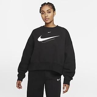 Nike Sportswear Sweatshirt recortada de lã cardada para mulher