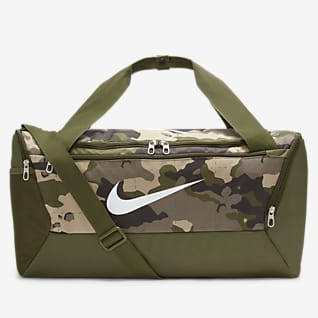 Nike Brasilia Träningsväska med kamouflagemönster (Small)