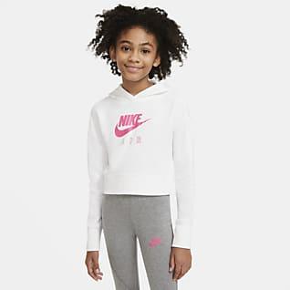 Nike Air Hoodie em tecido moletão recortado Júnior (Rapariga)