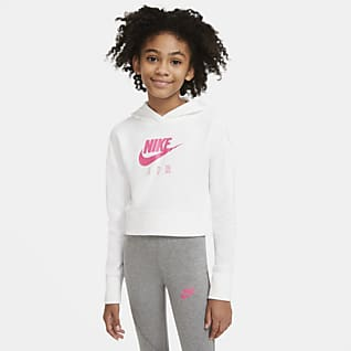 Nike Air Sweat à capuche court en molleton pour Fille plus âgée