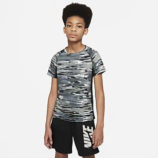 Nike Pro Parte superior de entrenamiento estampada para niño talla grande