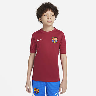 FC Barcelona Strike Игровая футболка с коротким рукавом для школьников Nike Dri-FIT