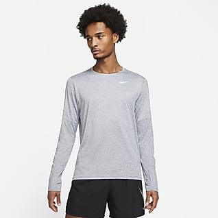 Nike Dri-FIT Løbetrøje med rund hals til mænd
