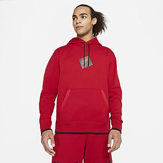 Jordan Jumpman Classics Ανδρική εμπριμέ φλις μπλούζα με κουκούλα