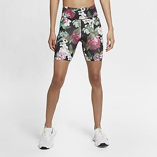 Nike One Shorts de ciclismo con estampado floral para mujer