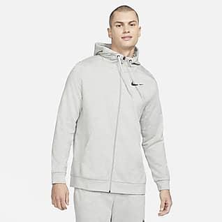 Nike Dri-FIT Ανδρική μπλούζα προπόνησης με κουκούλα και φερμουάρ σε όλο το μήκος