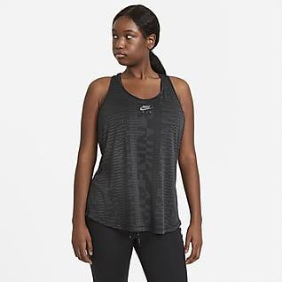 Nike Air Damska koszulka bez rękawów do biegania (duże rozmiary)