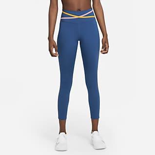 Nike Dri-FIT One Dámské 7/8 legíny se středně vysokým pasem apáskami