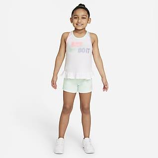 Nike Sportswear Conjunto de camiseta de tirantes y shorts para niños talla pequeña