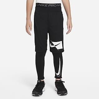 Nike Pro Dri-FIT Testhezálló nadrág nagyobb gyerekeknek (fiúk)