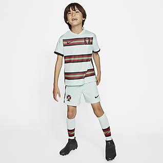 Portugal 2020 de visitante Kit de fútbol para niños talla pequeña