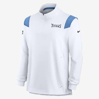 Nike Sideline Coaches Repel (NFL Tennessee Titans) Chamarra con cierre de 1/4 para hombre