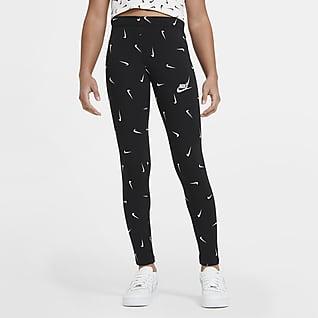 Nike Sportswear Leggings med print til store børn (piger)