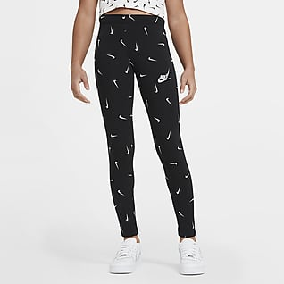 Nike Sportswear Mønstret leggings for store barn (jente)