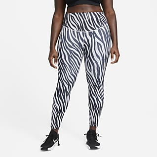Nike One Icon Clash Women's 7/8 Printed Leggings (Plus Size)