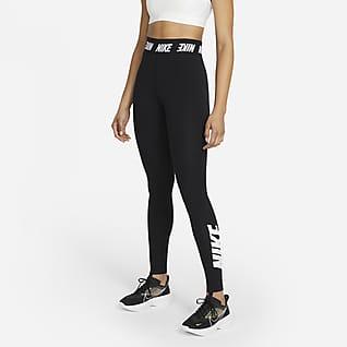 Nike Sportswear Damen-Leggings mit hohem Bund und Print