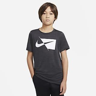 Nike Футболка для тренинга с коротким рукавом для мальчиков школьного возраста